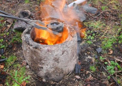 Bronze Age smelting and casting