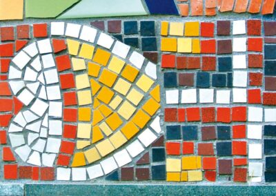 Detail from Otford Mosaic based on Local Roman Designs