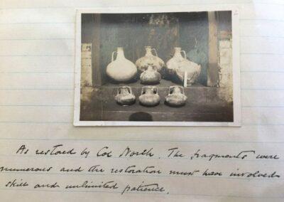 1920s notes from Progress Villa dig