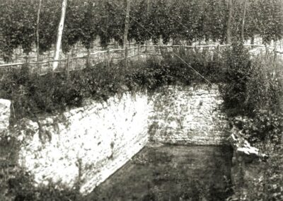 At one time a hop field surrounded the well