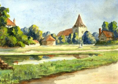 Early 20th century watercolour. With some artistic license!