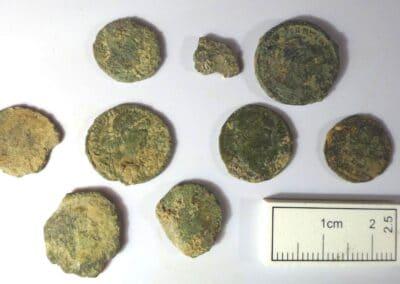 Coins found at Church Field Villa