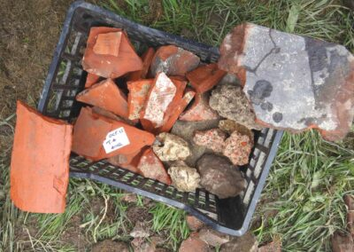 Roman tesserae and roof tiles found in Church Field