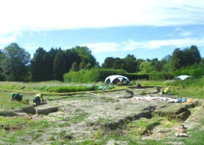 Panoramic view of Church Field excavation