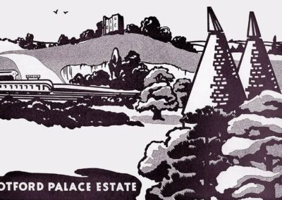 A 1934 artist's 'impression' to sell the new Otford Estate of Bubblestone Road.