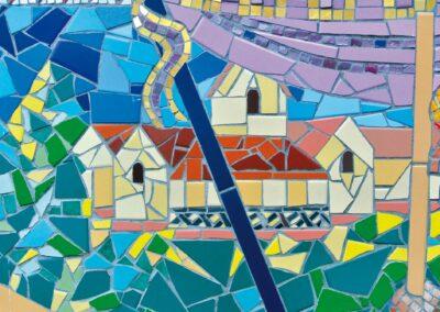 Representation of Progress Villa on Otford Mosaic