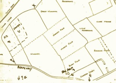 Sketch map of the archaeological sites at Frog Farm