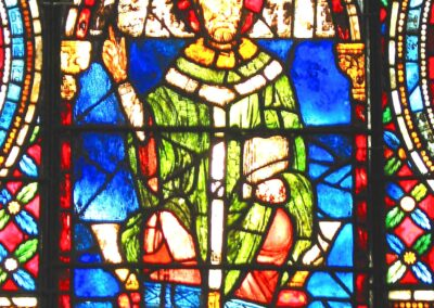 Thomas Becket, medieval stained glass at Canterbury