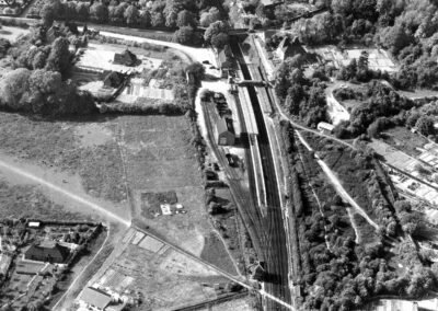 Aerial view of Otford Station in 1955