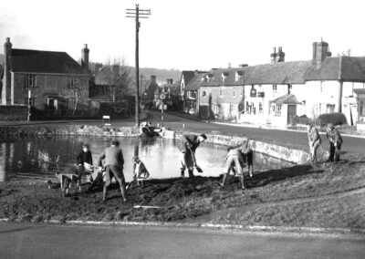 Beautifying the pond for the Festival of Britian in 1951