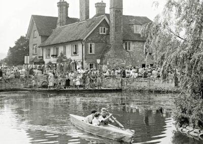 The 1953 Church Fete held in the grounds of Castle Farm