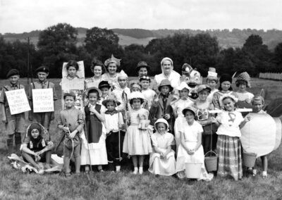 'Children in fancy dress assemble for the 1959 fete procession