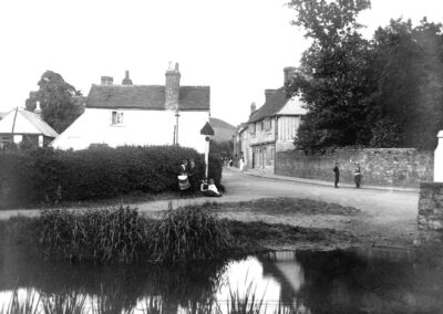 From the mill stream looking up the High Street