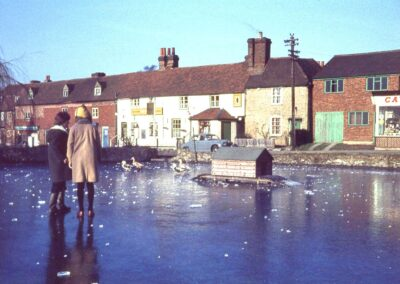 Frozen Otford Pond in 1961