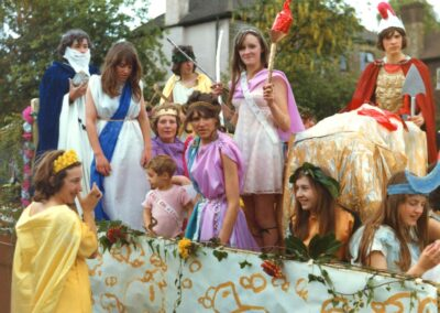 The Go Between's 'Greek Gods' float at the 1972 Village Fete