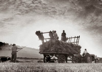 Haymaking to the west of Otford in the 1950s