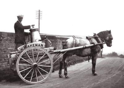 Milk Cart at Twitton Bridge in the 1930s