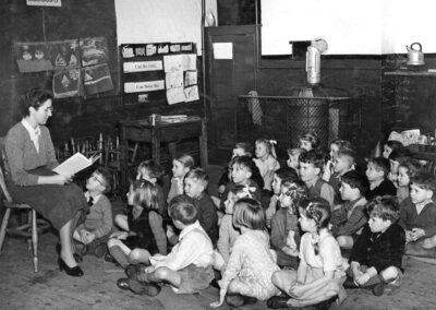 Miss Walker with her class in 1951