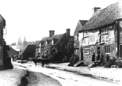 North side of 'The Street' in 19th century