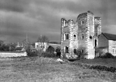 Otford Palace and Church in distance, 1934