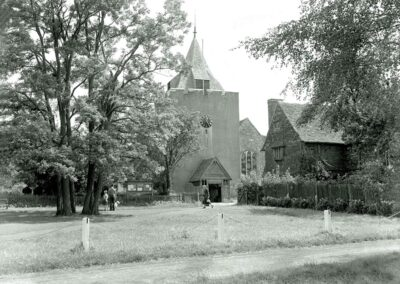 An idyllic view of the Parish Church in the 1960s