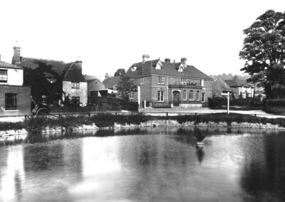 Otford Pond and the Woodman pub in 1890