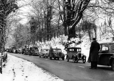 Polhill snarled up in the snow in the 1950s