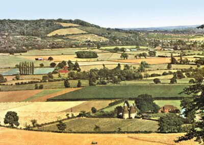 Rich Otford farmland in 1949 – the epitome of Samuel Palmer's 'Valley of Vision