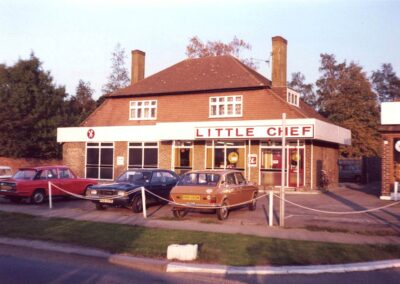 Road side cafe, the Little Chef courted controversy in 1977