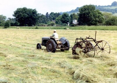 Turning the hay at Hilldrop Farm in 1969