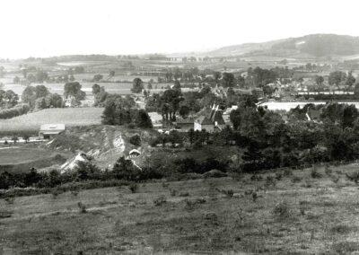 Village viewed from Otford Mount, 1920