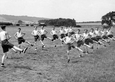 Otford Cadets improve their fitness on the rec. during World War Two