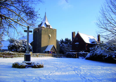 Otford's church tower was raised in 1185