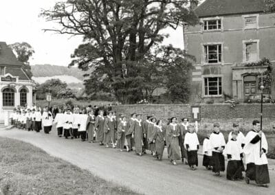 A Church Parade on 25th July 1954