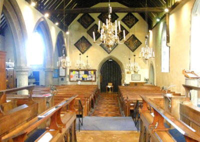 St. Bartholomews's nave which, in parts date back a thousand years