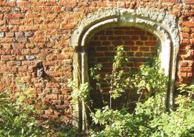 The blocked doorway to the guardroom