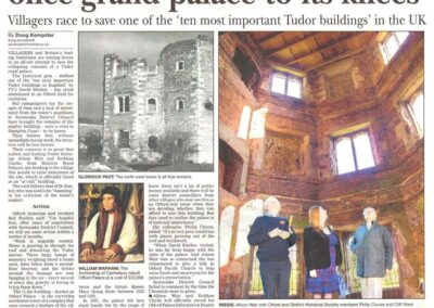 Publicity to save the Palace in the local press