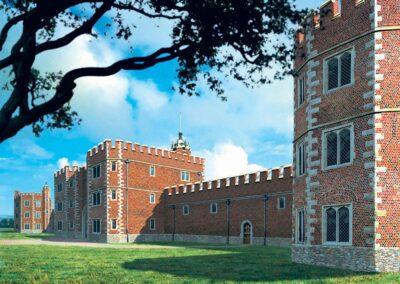 The opulent Tudor North Range of the Renaissance building