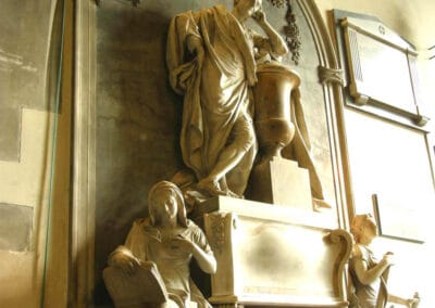 Charles Polhill's overbearing colossus in the chancel.
