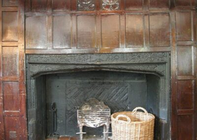 Tudor Panelling from the Palace re-used in the Bull