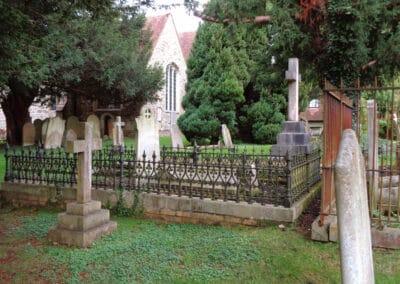 Victorian graves in Otford's churchyard
