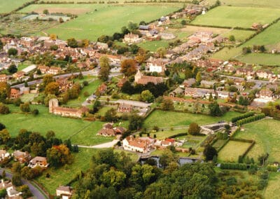 Looking north over the village in Summer 2002