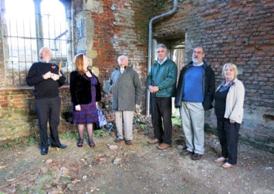 Members of ODHS show Alison Weir the interior of the Palace Tower