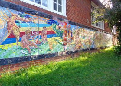 Mosaic shown on the Church Hall wall