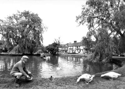 Mr. Mac – for many years Otford's 'duck-man'