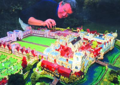 Rod Shelton with his model of the Tudor Palace.